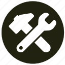 equipment, repair, tools, wrenches icon