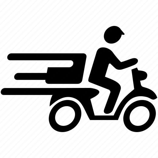 delivery, fast, food, motorcycle, package, quick, speedy icon