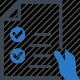 checklist, feedback, form inquiry, to do list icon