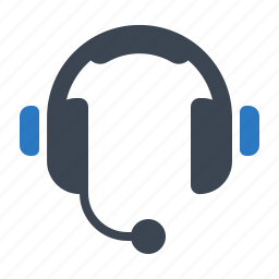 call center, headphones, support icon