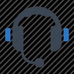 call center, headphones icon
