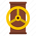 fuel, gas, pipe, pressure, stopcock, valve, water icon