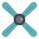 chrome, gray, metallic, perspective, propeller, rotate, rotation icon