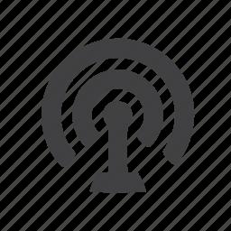 antenna, radio, signal, wireless icon