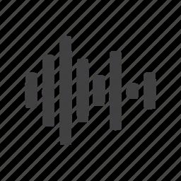 audio, bar, sound icon