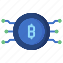 bitcoin, coin, computer, cryptocurrency, currency, money, technology icon