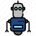 artificial, device, electronic, intelligence, machine, robot, technology icon