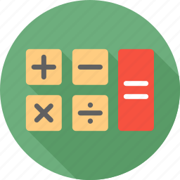 calculator, communication, device, math, technology icon