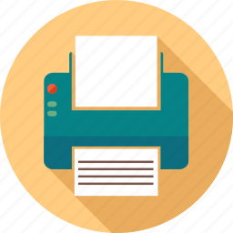 communication, computer, internet, paper, phone, pointer, printer icon
