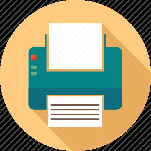 communication, computer, internet, paper, phone, pointer, printer icon