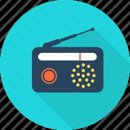 broadcasting, computer, desktop, pc, radio, technology, volume icon