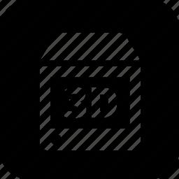 degital model, technology, three dimensional icon