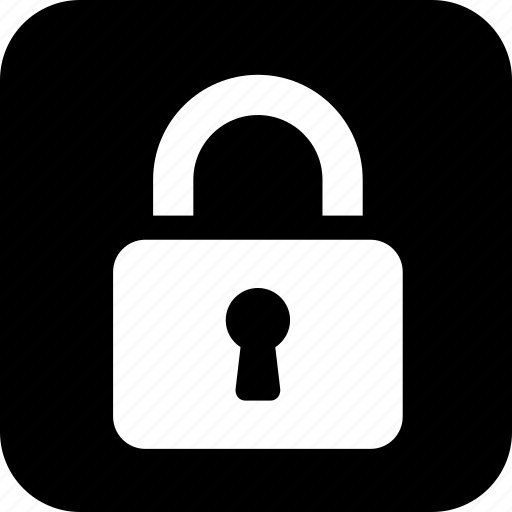 keyhole, lock, protection, security icon