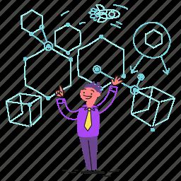nodes, presentation, tech, scientist, speaker, science, technology, network, space