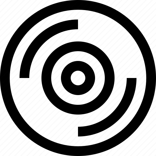 compact, data, device, disc, media, music, record icon
