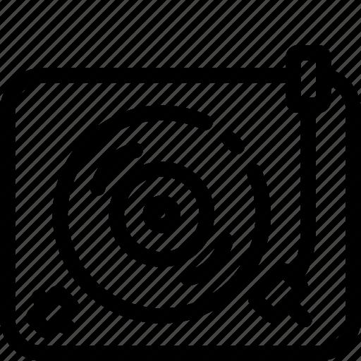 Music, record player, retro, vinyl, audio, player, sound icon - Download on Iconfinder