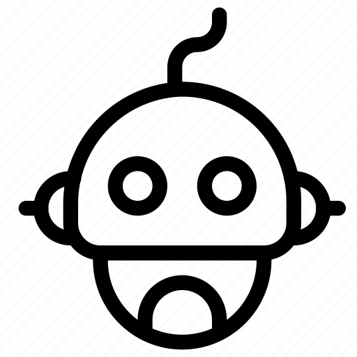 artificial, cyborg, head, intelligence, machine, robot, robotics icon