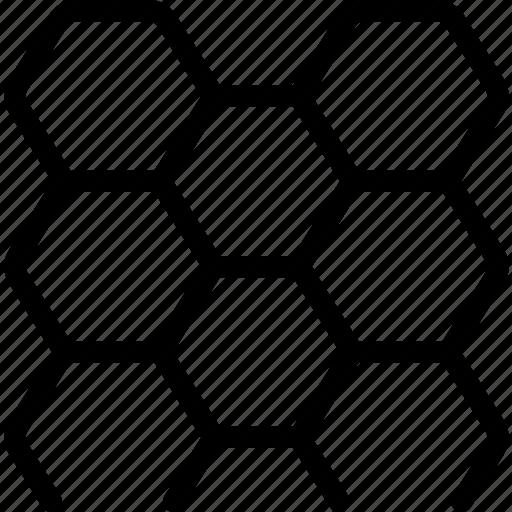 artificial, deep, dna, genes, hexagon, honeycomb, intelligence icon