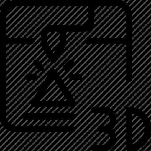 machine, print, printing, technology, triangle icon