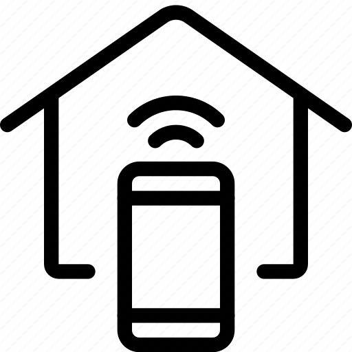 home, house, iphone, phone, remote, smartphone, wireless icon