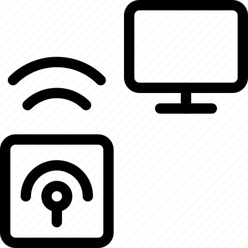 beacon, display, location, monitor, remote, screen, tracking icon