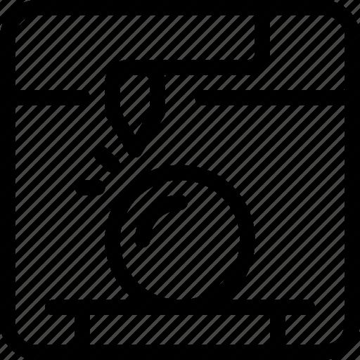 ball, machine, orb, print, printing, sphere, technology icon