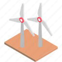 clean energy, thermal energy, wind power, windmill, windmill power icon