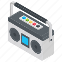 audio player, cassette player, music player, player, vintage player icon
