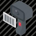 barcode reader, barcode scanner, bill scanner, price code, price scanner icon