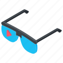 3d glasses, 3d goggles, 3d monitoring, eyewear, virtual reality icon