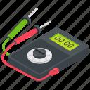 ammeter, analog voltmeter, current monitor, galvanometer, voltmeter icon