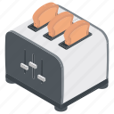 bread toaster, oven, sandwich maker, toaster, toaster oven icon