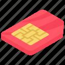 microchip, mobile sim, sim, sim card, subscriber identity module icon