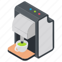 coffee machine, coffee maker, home appliance icon
