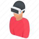 innovative technology, simulation, virtual reality, vr, vr technology icon