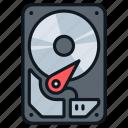 disk, drive, file, hard, memory, storage icon