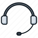 call, contact, earpiece, headphone, headset, microphone icon