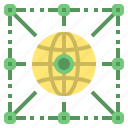 connect, eleactronic, globa, network, online, technology icon