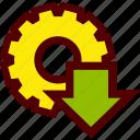 app, application, download, gear, install, software