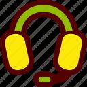 call, center, headphones, headset, mic