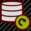 data, database, refresh, reload, server, storage, update icon