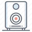 audio player, music player, sound speakers, sound system, stereo system icon