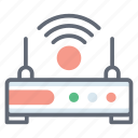 broadband modem, internet device, iot, modem, network router, wifi router, wireless router icon