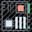 circuit board, hardware, mainboard, microelectronics, motherboard icon