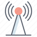 broadband network, communication tower, radio tower, signal tower, wireless network icon