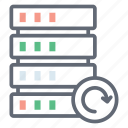 data sync, data transfer, database syncing, refresh database, server backup, system backup icon