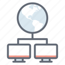 global data, global network, international network, referral network, world wide communication icon