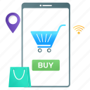 smart, retail, shopping app, mobile app, online buying, ecommerce, mecommerce icon