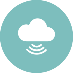 cloud, cloud computing, signal, technology icon