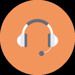 communication, device, headphone, headset, media, multimedia, skype icon